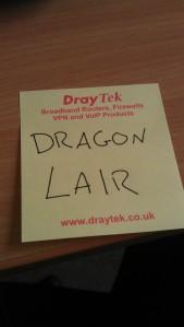 Dragon Lair postit